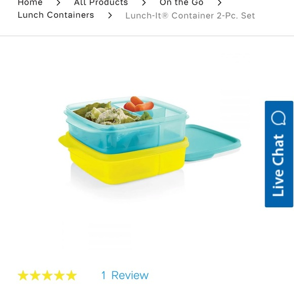 Tupperware divided lunch container (set of 2)